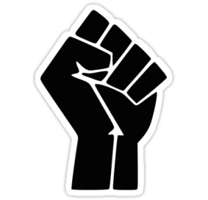 Black Lives Matter symbolic fist
