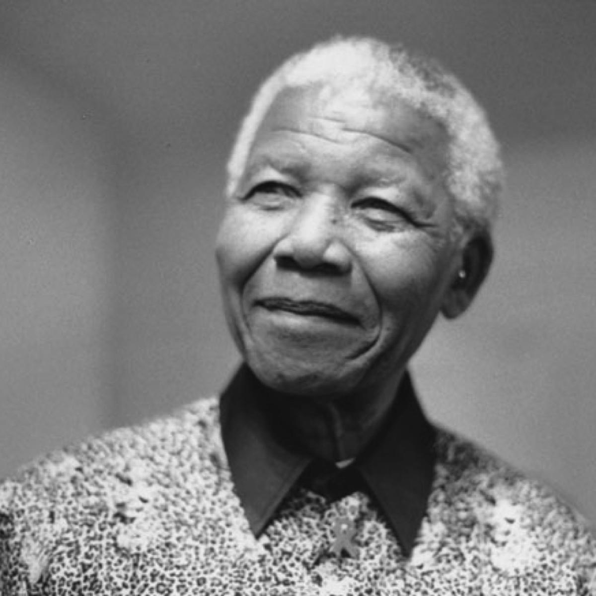 Portrait photo of Nelson Mandela