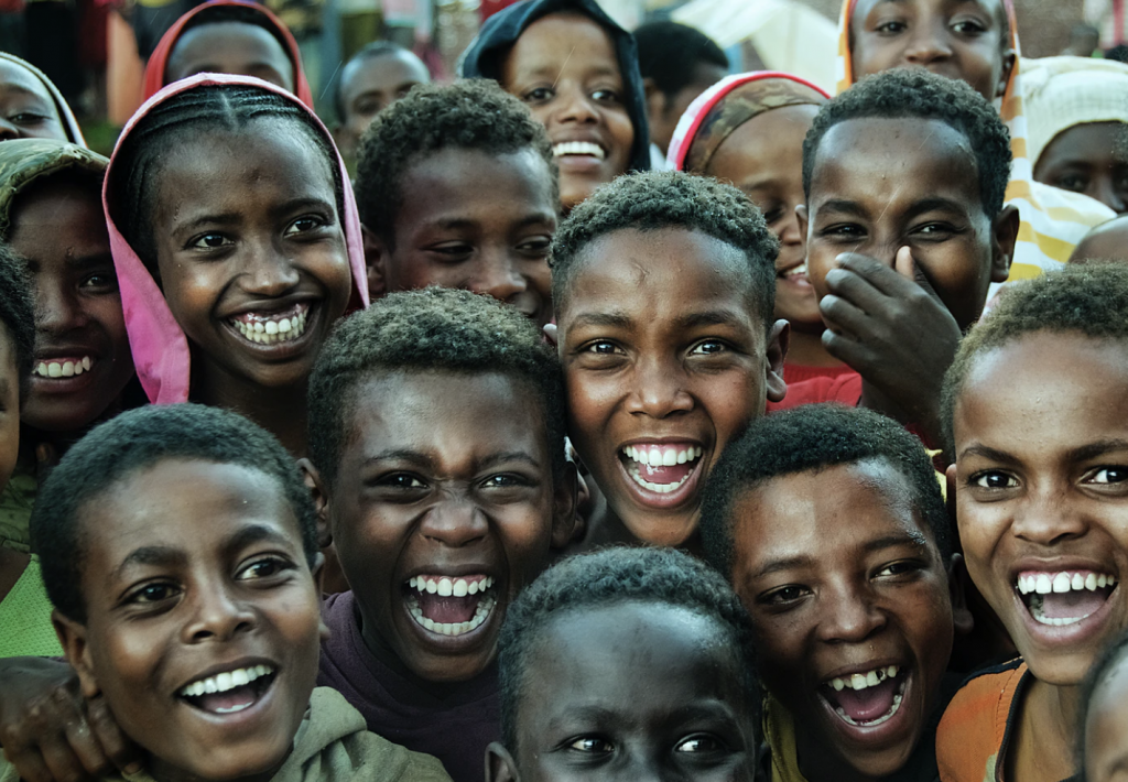 an image of  African youth smiling.