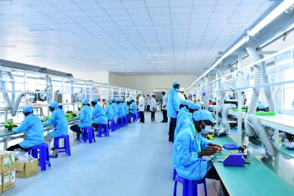 Image of high-tech factory work space