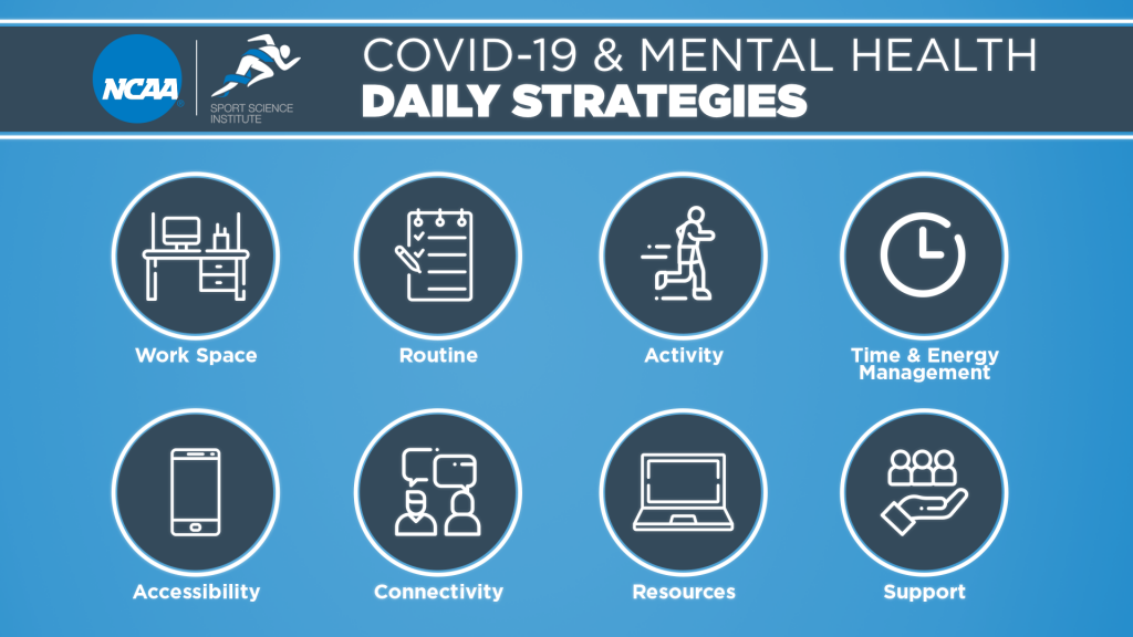 Chart depicting different strategies one can adopt to maintain mental health during COVID-19.