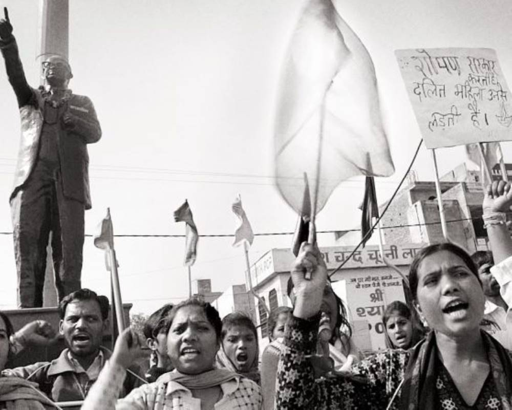 Dalit women at protest