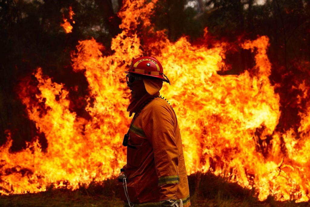 This image shows the destructive Australia Fires