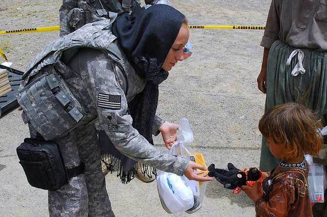 #KindnessMatters-An Act of kindness by a soldier towards a small girl