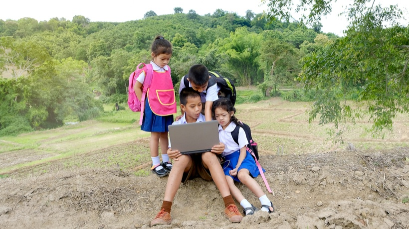 This image is to show poor conditions of e-learning in some countries
