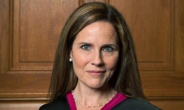 Image of the new supreme court Judge Amy Coney Barrett who is going to be an obstacle in the US fight for abortion rights.