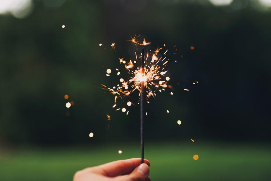 Bursting firecrackers in Diwali