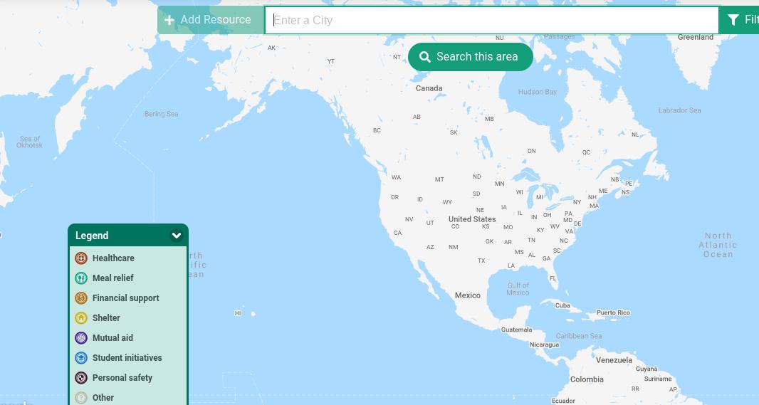 Image of a close-up screenshot of the Pando map