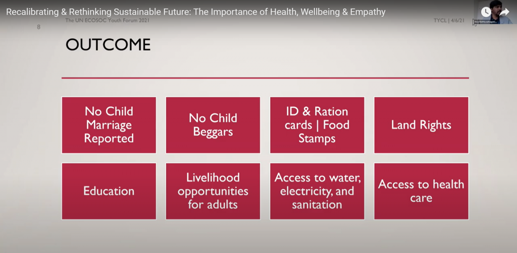 A visual presentation represents the outcome of the envision plan