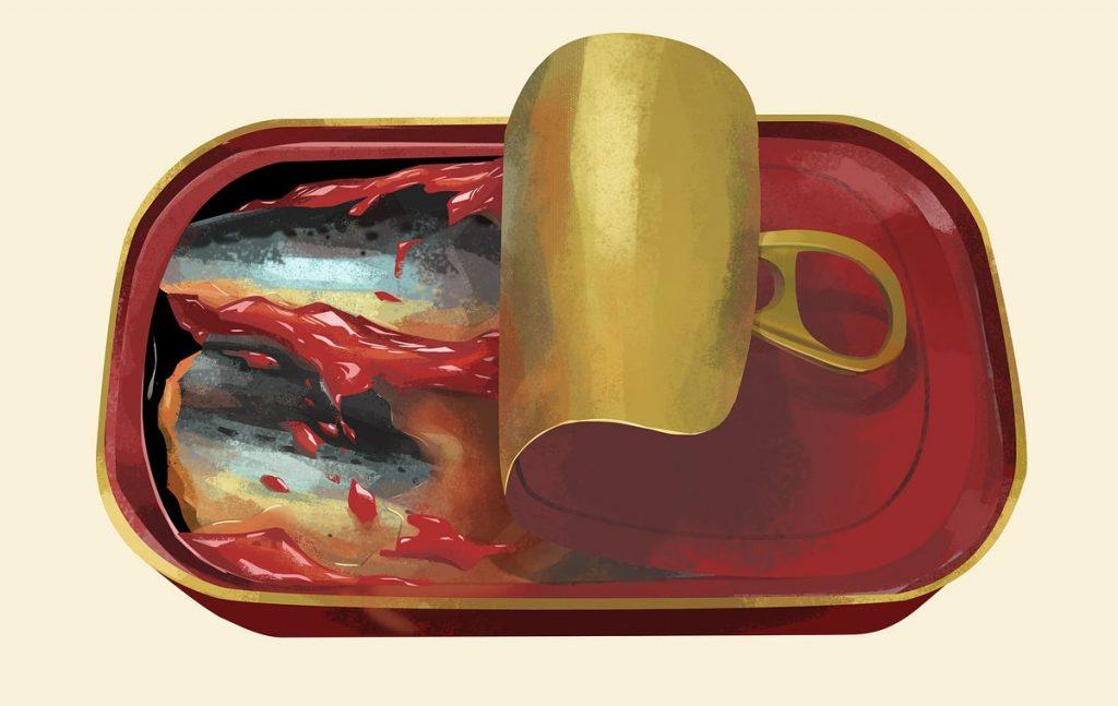 A sardine canned