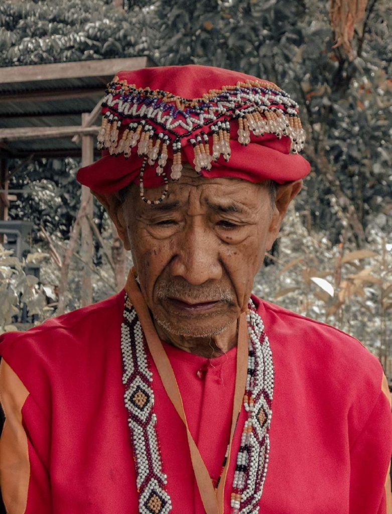 A portrait of an indigenous man, Datu Timbangan, village shaman of the Higaonon tribe in Kiabo.