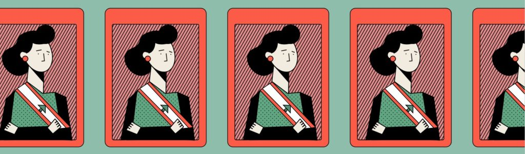 Illustration of Lebanese women politicians.