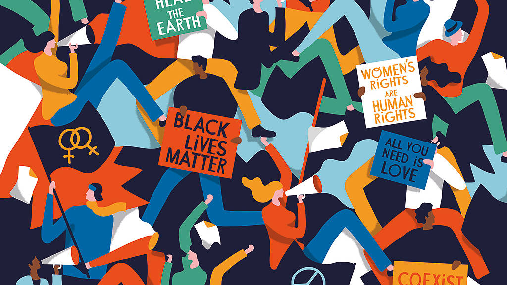 Graphic depiction of different social movements