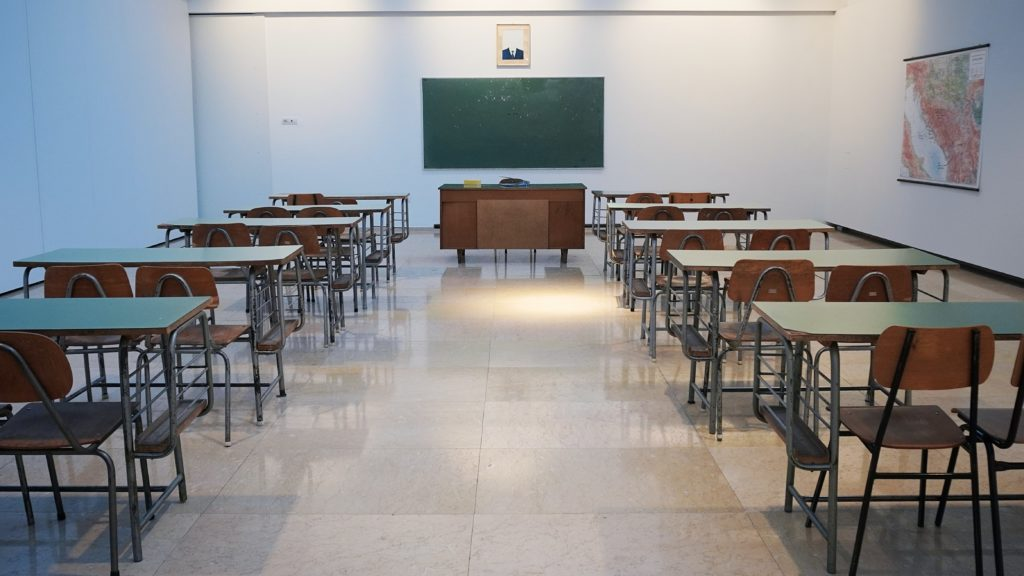 Image of an empty classroom.